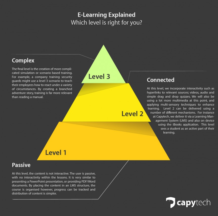 E Learning Explained Which Level Is Right For You Capytech