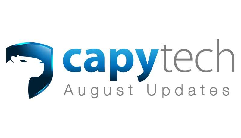 AugustUpdate - Capytech Updates - August 2017