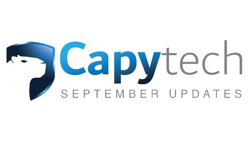 september - Capytech Updates - September 2017
