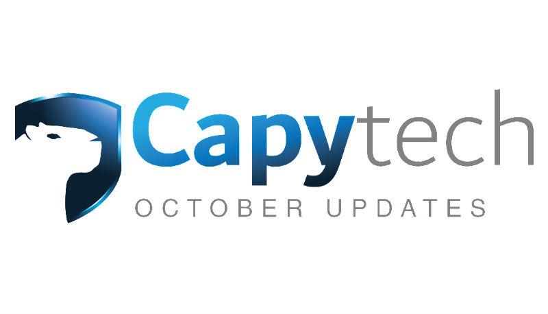 October Updates new - Capytech Updates - October 2017