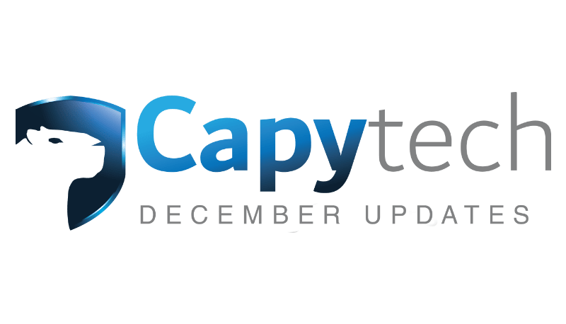 December Updates 2 min - Capytech Updates -December 2017