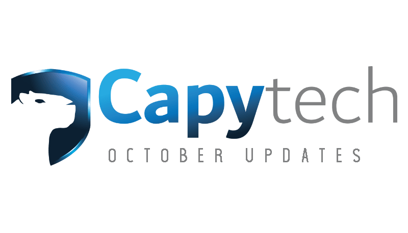 October min 1 - Capytech Updates - October 2018