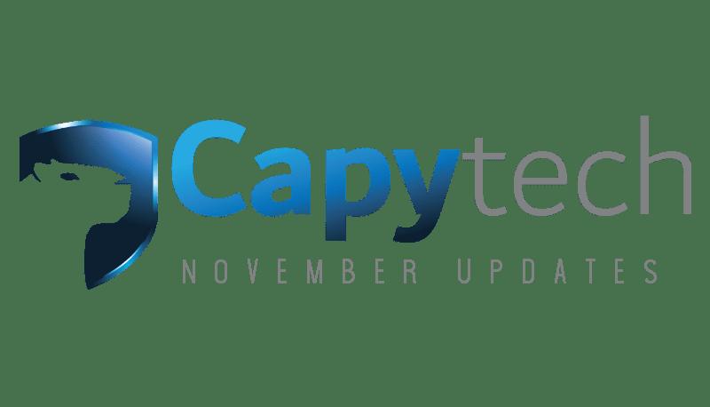 November min 1 - Capytech Updates - November 2018