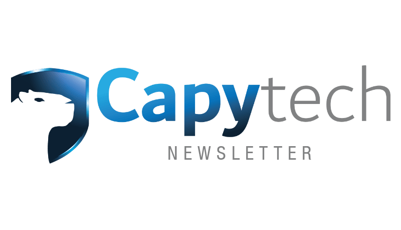 Newsletter2 min - Capytech Updates - March 2019