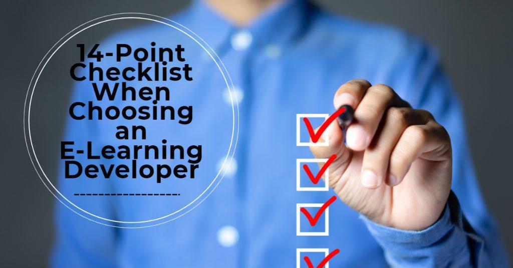 14 Point Checklist When Choosing an E Learning Developer 1024x535 - All Posts